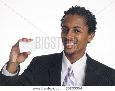 Businessman - Happy Blank Card