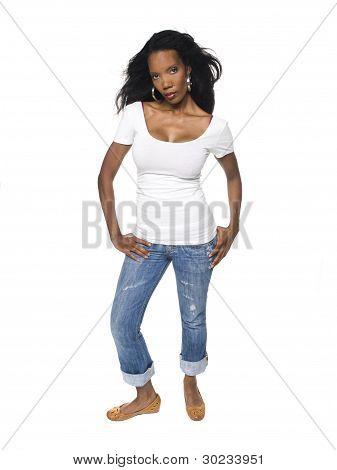 Fashion - Pretty Woman In Jeans