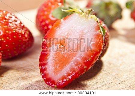 Close-up Of Organic Strawberry
