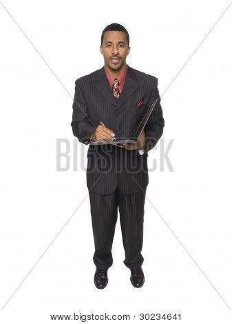 Businessman - Writing In Organizer