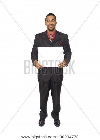 Businessman - Happy Blank Sign