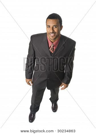 Happy Businessman Overhead