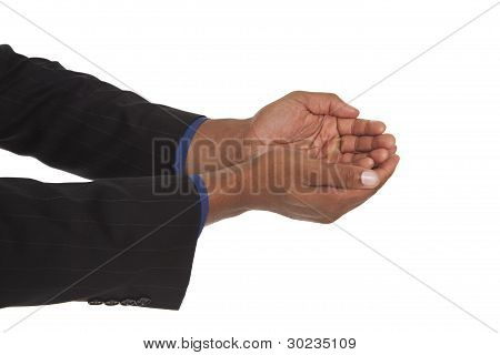 Man - Cupped Hands