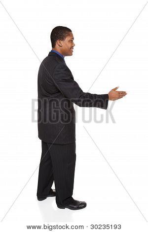 Businessman - Handshake Reach