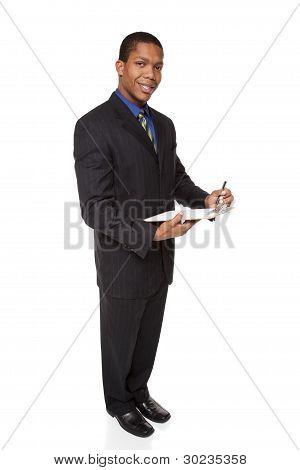 Businessman - Clipboard Questionnaire