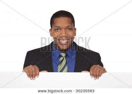 Businessman - Blank Sign