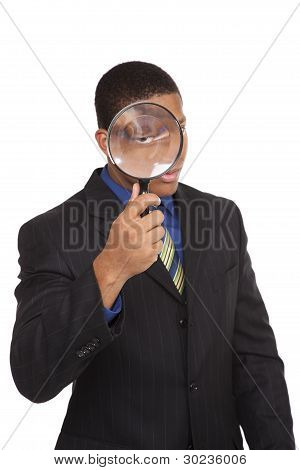 Businessman - Magnifying Glass Search