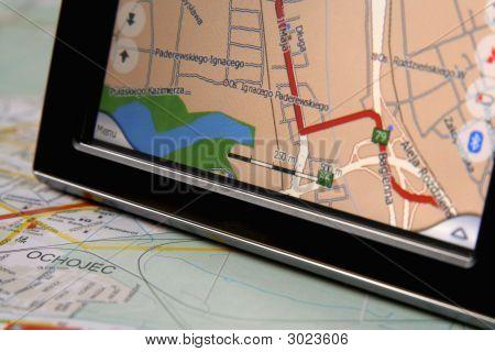 GPS y mapa