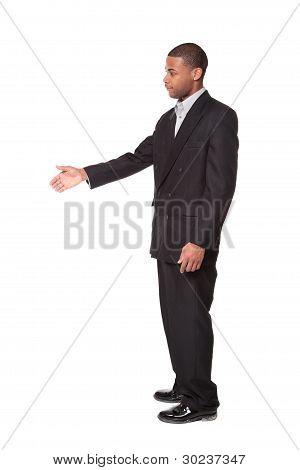 Handshake Reach - African American Businessman
