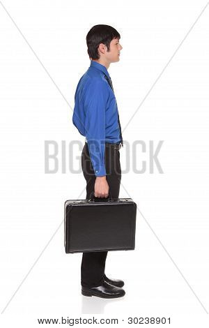 Carrying Briefcase - Caucasian Businessman