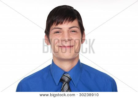Expressions - Smiling Caucasian Businessman