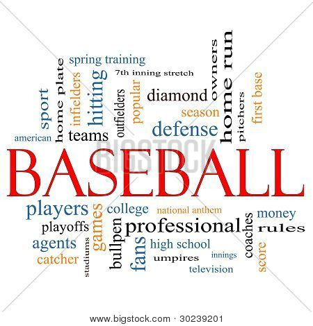 Baseball Word Cloud Concept