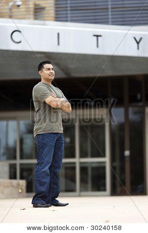 Hispanic Man - Casually Dressed City