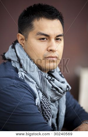 Hispanic Man - Leaning On Wall
