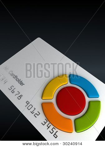 Credit card - remote with buttons