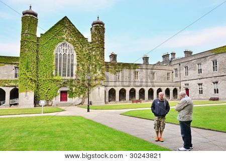 Two men in The Quadrangle, Galway, Ireland