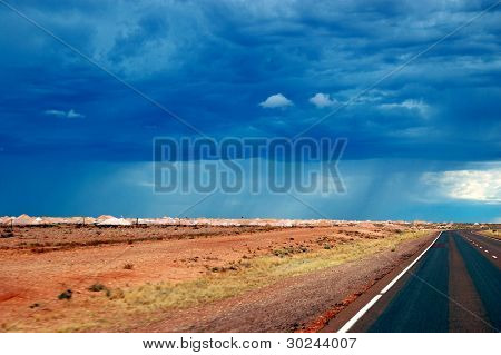 Cloudy Sky Over Highway