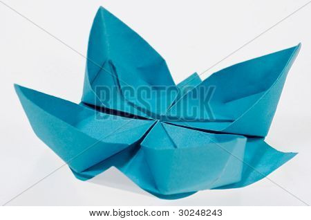 折纸纸折莲花