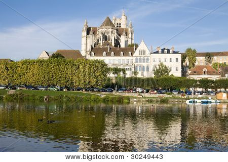 Cityscape In Auxerre, France