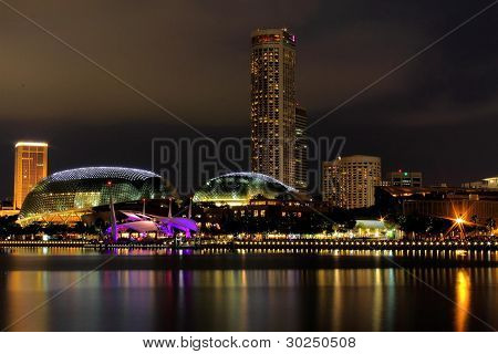 Singapore Esplanade Night View
