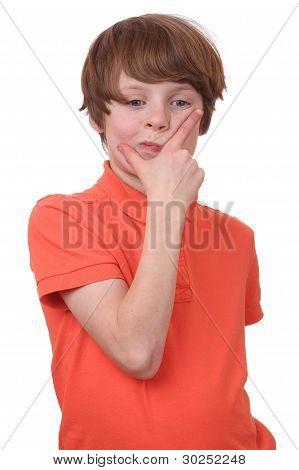 Pondering Boy