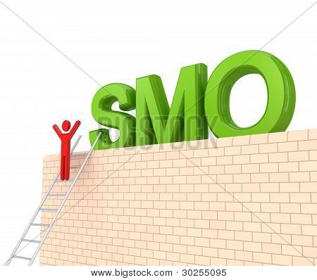 Word SMO on a big wall