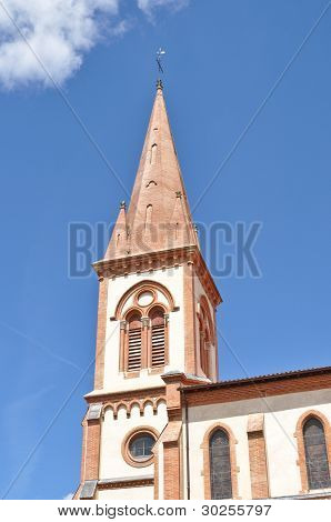 Renovated Church Tower In St Lys, France