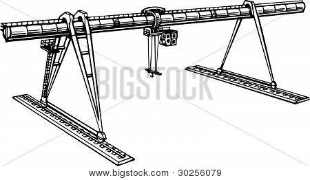 Heavy Duty Construction Crane