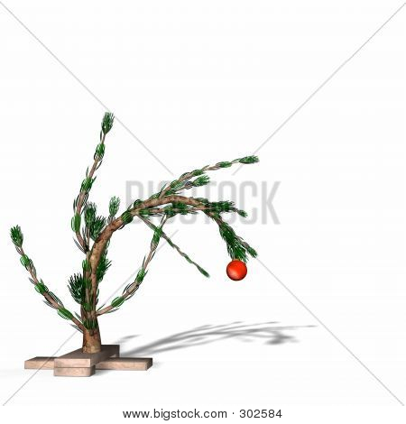 Charlie Brown Style Christmas Tree