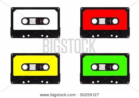 Quartet of cassette tapes