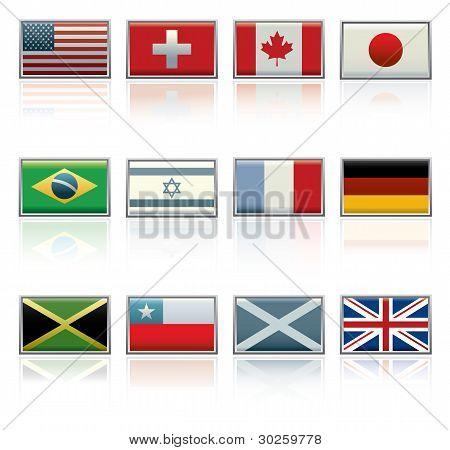 Sixteen Vector Flag Icons