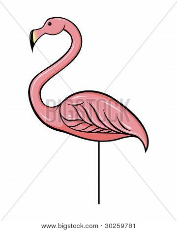 Vector Plastic Flamingo