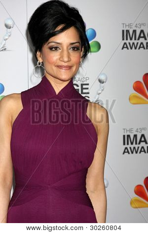 .LOS ANGELES - FEB 17:  Archie Panjabi arrives at the 43rd NAACP Image Awards at the Shrine Auditorium on February 17, 2012 in Los Angeles, CA.