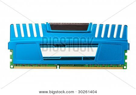 modern ddr ram memory isolated on white