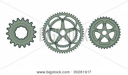 Vector Bike Gears