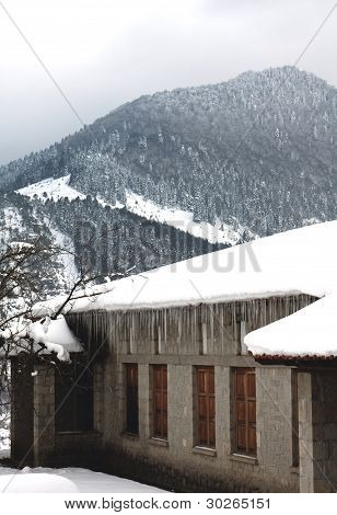 Winter view of Metsovo, Greece