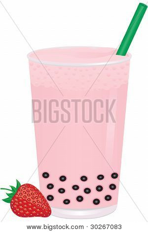 Strawberry Bubble Milk Tea