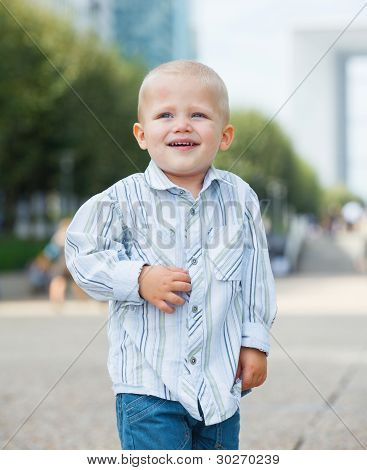 Portrait of the city boy