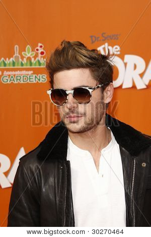 LOS ANGELES, CA - FEB 19: Zac Efron at the 'Dr. Suess' The Lorax' premiere at Universal Studios Hollywood on February 19, 2012 in Los Angeles, California