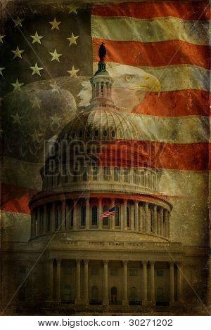 Nos águila Capitol, bandera, texturada