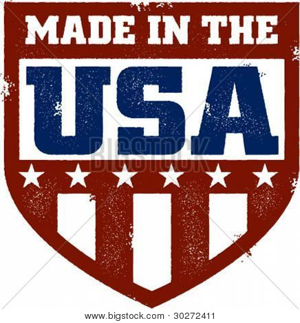 Made in the USA Vintage Shield