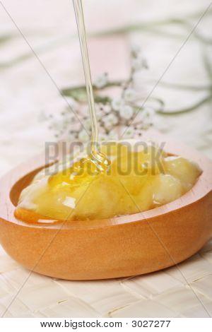 Mascarilla de miel y plátano