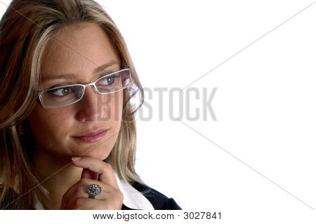 Attractive Woman Look To The Camera