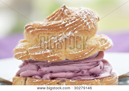 Raspberry Cream Puff