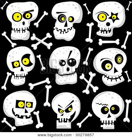 Cute Skull Faces