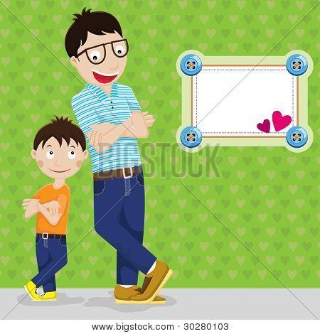 Día feliz del padre - padre e hijo