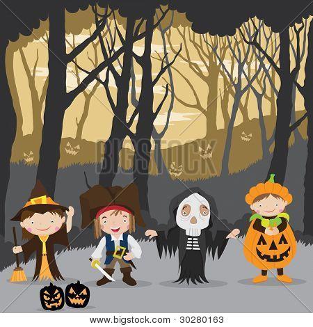 Halloween Night and kids costumes