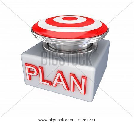 Red button with a word PLAN.