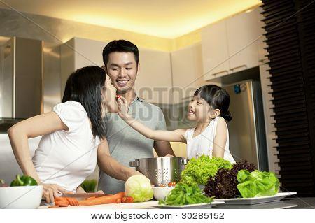 asiatische Familie Lebensstil