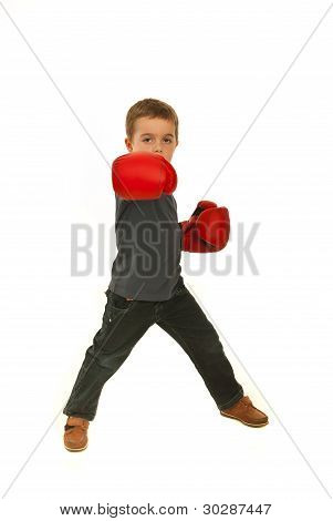 Boxing Child Boy